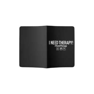 Travel Therapy Passport Holder | Black