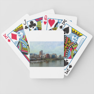 Travel through Portland Bicycle Playing Cards