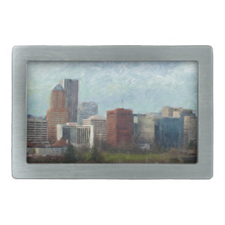 Travel through Portland Rectangular Belt Buckles