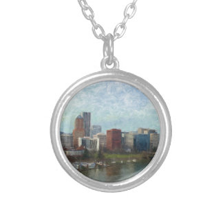 Travel through Portland Silver Plated Necklace