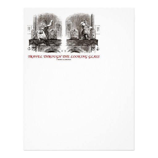 Travel Through The Looking Glass (Wonderland) Letterhead Template