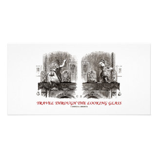 Travel Through The Looking Glass (Wonderland) Photo Card