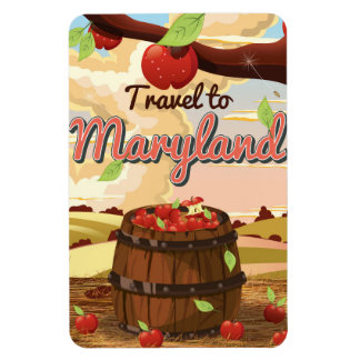 Travel To Maryland travel poster Magnet