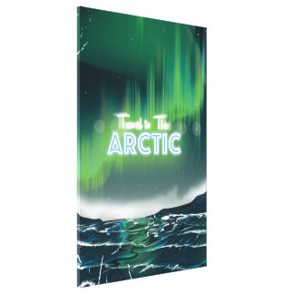 Travel to the Arctic Travel Poster Gallery Wrap Canvas