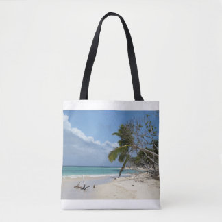Travel Tote Bag with Perfect Beach Photo