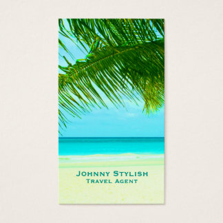 Travel tourism agent exotic graphic cover business card