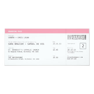 Travel Wedding Invitation | Pink