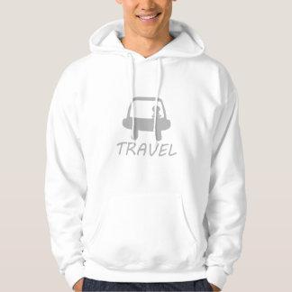 TRAVEL WHITE SWEAT SHIRT