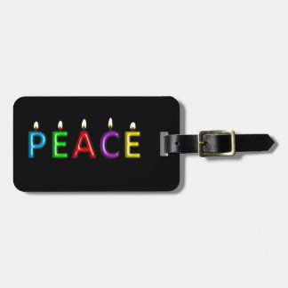 Travel with PEACE Luggage Tag