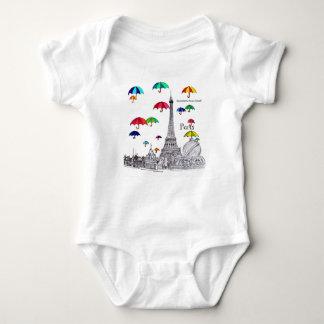 Travel with Umbrellas Baby Bodysuit