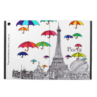 Travel with umbrellas iPad air case