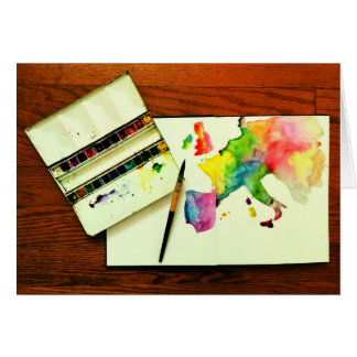 Travel with Watercolors Card