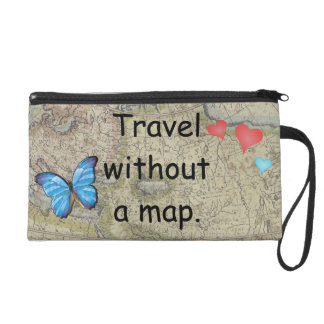 Travel without a map wristlet
