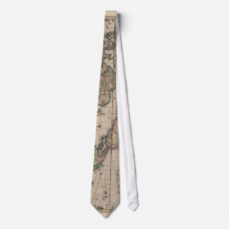 Travel World Map Vintage Art Globe Tie