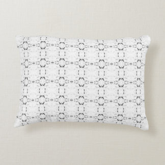 'Traveled' Black and White Pattern Accent Pillow