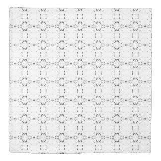 'Traveled' Black and White Pattern Duvet Cover