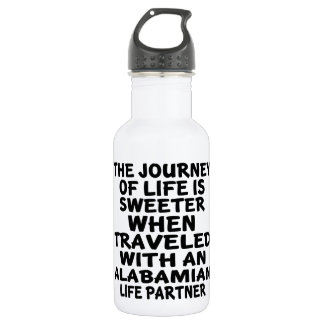 Traveled With A Alabamian Life Partner 532 Ml Water Bottle
