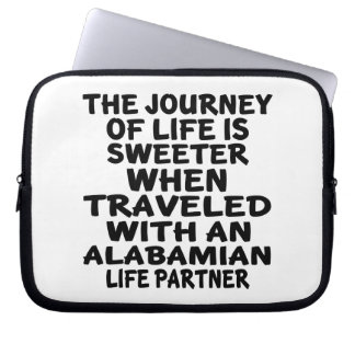 Traveled With A Alabamian Life Partner Laptop Sleeve