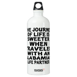 Traveled With A Alabamian Life Partner Water Bottle