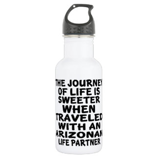 Traveled With A Arizonan Life Partner 532 Ml Water Bottle