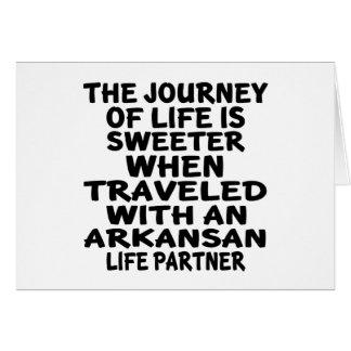 Traveled With A Arkansan Life Partner Card