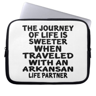 Traveled With A Arkansan Life Partner Laptop Sleeve