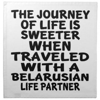 Traveled With A Belarusian Life Partner Cloth Napkins
