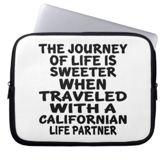 Traveled With A Californian Life Partner Laptop Sleeve