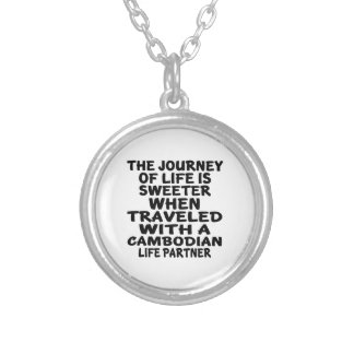 Traveled With A Cambodian Life Partner Silver Plated Necklace
