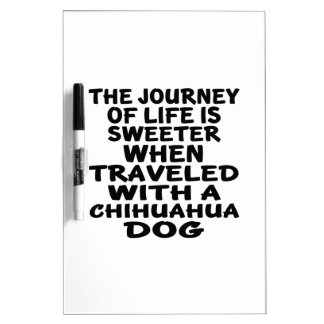 Traveled With A Chihuahua Life Partner Dry-Erase Whiteboards