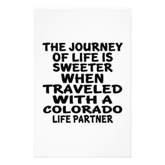 Traveled With A Colorado Life Partner Stationery