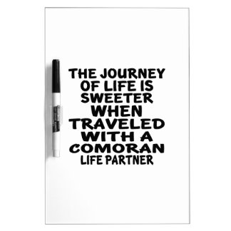 Traveled With A Comoran Life Partner Dry Erase Whiteboard
