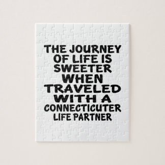 Traveled With A Connecticuter Life Partner Jigsaw Puzzle
