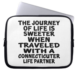 Traveled With A Connecticuter Life Partner Laptop Sleeve