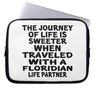 Traveled With A Floridian Life Partner Laptop Sleeve