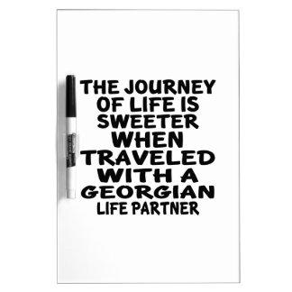 Traveled With A Georgian Life Partner Dry Erase Whiteboard