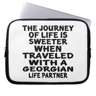Traveled With A Georgian Life Partner Laptop Sleeve