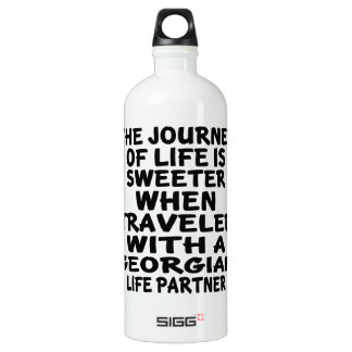 Traveled With A Georgian Life Partner Water Bottle