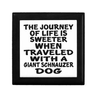 Traveled With A Giant Schnauzer Life Partner Keepsake Box