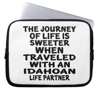 Traveled With A Idahoan Life Partner Laptop Sleeve