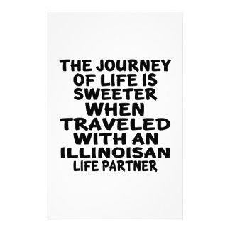 Traveled With A Illinoisan Life Partner Stationery