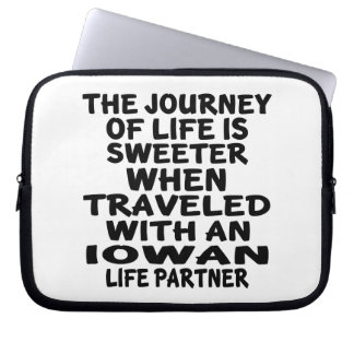 Traveled With A Iowan Life Partner Laptop Sleeve