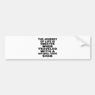 Traveled With A Jack Russell Terrier Life Partner Bumper Sticker