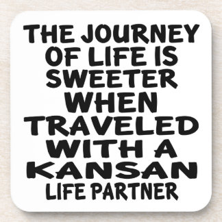 Traveled With A Kansan Life Partner Coaster