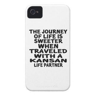 Traveled With A Kansan Life Partner iPhone 4 Case