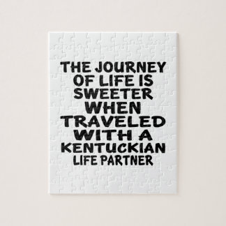Traveled With A Kentuckian Life Partner Jigsaw Puzzle