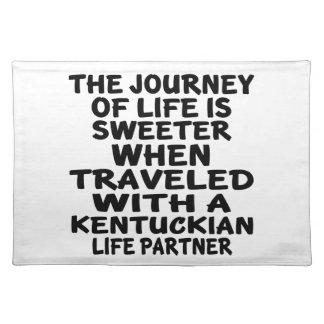 Traveled With A Kentuckian Life Partner Placemat