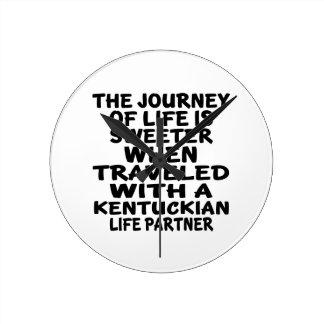 Traveled With A Kentuckian Life Partner Wall Clock