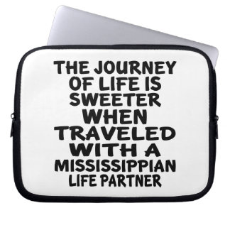 Traveled With A Mississippian Life Partner Laptop Sleeve