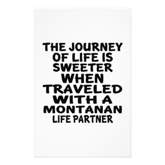 Traveled With A Montanan Life Partner Stationery